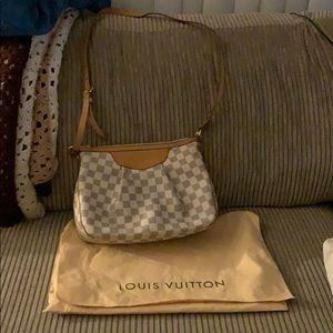 Louis Vuitton Siracusa Mm Crossbody Damier Azur